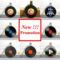 american records - 2015 New Fashion Glass Dome Necklace Vintage Vinyl Record Necklace Record Pendant Personalized Picture Necklace NS
