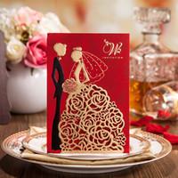Wholesale 2016 creative wedding invitations custom invitations romantic personality custom made wedding invitation cards wedding supplies invitation
