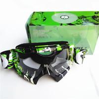 Wholesale 2016 Newest Anti UV Kawasaki Motocross Goggles MX ATV Downhill Dirt Bike Off Road Glasses Anti fog Motorcycle Eyewear
