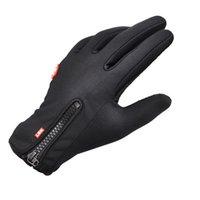 Wholesale winter sport windstopper waterproof ski gloves black warm riding glove Motorcycle gloves