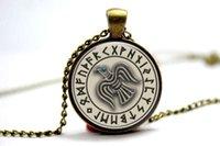 american raven - 10PCS Viking Raven Pendant in Cream pendant Necklace Glass Photo cabochon necklace