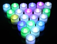 Wholesale Romantic Color LED Changing Electronic Flameless Candle Lamp MFBS Tradebuck Assurance LED Electronic Candlelight Wedding Party Candle