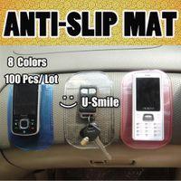 100pcs / lot 8 colores fuertes Mat pegajosa antideslizante Para Dashboard coche del teléfono celular GPS PDA Coche accesorios Promocional lavable Regalo