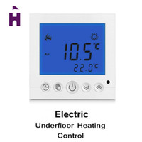 Wholesale Digital Room Floor Heating Thermostat with Blue LCD Display Weekly Programmable Room Thermostat Temperature Controller