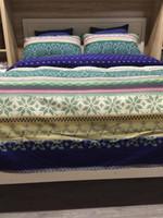 Cheap Wholesale-Christmas deer print Snowflake bedding set king size queen quilt doona duvet cover bed sheet bedspreads double bedsheets cotton