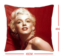 Wholesale cm Korea Liang high grade Marilyn Monroe one side printed pillow cover satin wedding red creative marriage room layout