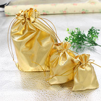 Wholesale New Fashion Gold Plated Gauze Satin Jewelry Bags Jewelry Christmas Gift Pouches Bag x9cm X9cm x12cm x18cm
