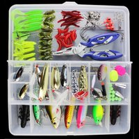 ad mix - Super Value set Fishing Lures Kit with Mixed Hard Luresn ad Soft Baits Minnow Lures Accessories Box FHG_21Y