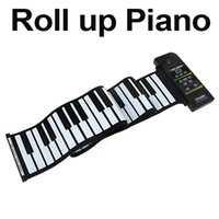 Wholesale 88 Key Electronic Piano Keyboard Silicon Flexible Roll Up Piano with Loud Speaker