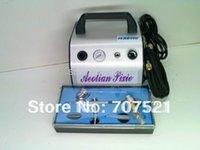 kit airbrush compressor de ar tatoo, bomba de maquiagem escova de ar desconto, mini pistão portátil oilless silenciosa AC 220V, Hseng AS176K
