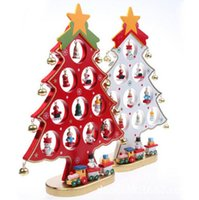 Wholesale New Wooden Christmas Tree New Year Gift Ornaments Decorations For Home Christmas Products Creative CM arboles de navidad
