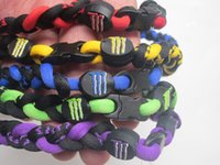 Wholesale titanium necklace rope necklace tornado sports braided baseball softball soccer necklace