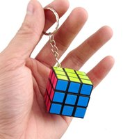 Wholesale Rubik Cube CM Novelty Keychain Puzzle Magic Game Toy Children Educational Toys Kids Keychain New Arrival