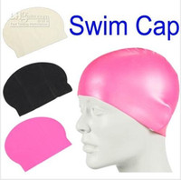 Wholesale Hot selling Durable Stylish Sporty Latex Swimming Swim Cap Bathing Hat Blue White Black Pink