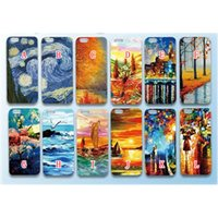 beautiful cover art - For iphone S Plus S Tree Boat Lover Colorful Printing pretty beautiful Starry Oil Painting Art Pattern PC hard Cover Case Skin