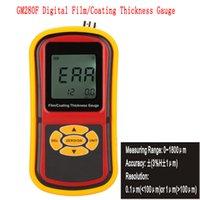 Wholesale GM280F Fe Digital Film Paint Coating Thickness Gauge Meter Tester Paint Sheet Metal Depth Gauge Range um order lt no track