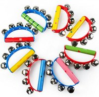 bell ball game - 180pcs new arrive High Quality Tambourine KTV Party Kids Game Musical Toy Hand Held Tambourine Bell Metal Jingles Ball Percussion D125