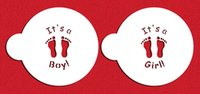 baby stencils - Its a boy its a girl baby feet stencil cookie mold