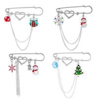 Wholesale 1PC New Fashion Design Rhinestone Heart Pin Brooch Christmas Charms Jewelry Decor