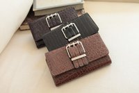 alligator skin purses - HB597 Cozy Casual Solid Crocodile Skin PU Bifold money clip Wallet Purse colors g