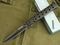 Folding Blade best hunting knife steel - COLD STEEL S Hunting Pocket Knife Tactical Folding Knives Blade Sanding Black steel Handle Best Gift freeshipping