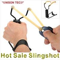 Wholesale Folding Wrist Sling Shot Slingshots High Velocity Hunt Brace Bow Outdoor Hunting