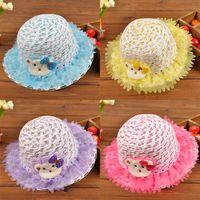 Wholesale 2015 New Fashion Korean Children Hats Baby Straw Hat Summer Sun Hat for boys and girls Kids jazz hats baby hat Fashion Bonnet Children s hat