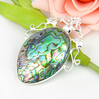 abalone shell pieces - 5 Pieces Family Gift Fire Multi Colored Abalone Shell Crystal Sterling Silver Pendants Russia American Australia Wedding Pendants