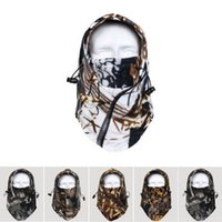 Wholesale Camo Balaclava Hat Polar Fleece Cap Hunting Ski Gear Headwear Neck Warmer Facemask Multicolor Fashion