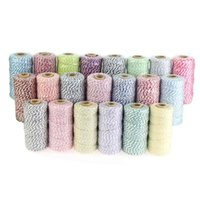 Wholesale Bakers twine ply Yards spool color cotton twine kinds color