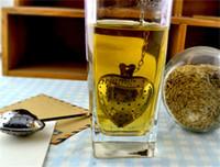 Wholesale Practical Heart Shape Stainless Steel Tea Infuser Spoon Strainer Steeper Handle Shower Tea Strainer quot tea time quot Tool