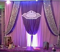 backdrop wedding reception - Romantic Purple Backdrops Swag Wedding Bouquet Reception Table Props Backdrops Swag Sequins Size M Custom Made