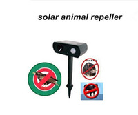Cheap Solar Powered Ultrasonic Animal Repeller Repellent Birds Dogs Cats Deer Rat Mice Monkey Mole Free Shiping