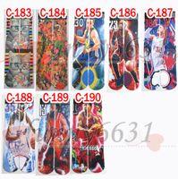 baseball guns - women hip hop long barrel socks d sports star socks skateboard mens d printed gun emoji tiger skull socks Unisex styles FEDEX to USA