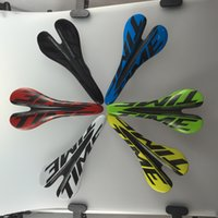 Wholesale Complete Carbon Bike Saddles K Wave Glossy Cycling Seats Time Logo MTB Cushion Mountain Yellow Green Red Blue White Red Centre Hollow