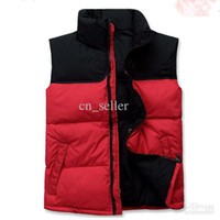Wholesale Designer Men down Vests erect collar Spring Northe Fan casual down vest Light warm free shpping