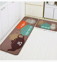 Wholesale Kitchen Room Soft Area Rugs Floor Pad Matting Anti Non Slip Cover Carpet Doormat Suede Non Slip Footcloth Mat