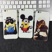 Wholesale Despicable Me Minions Minion Cases Soft TPU Cute Cartoon Dustproof Case Cover for iphone6 iphone plus S styles
