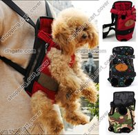 backpack front strap - Newest Portable Canvas Pet Dog Cat Puppy Carriying Carrier Case Comfort Travel Tote Hand Front Shoulder Bag Backpack Purse Sling Strap Belt