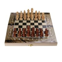 backgammon game pieces - 3 in multifunctional education wooden chess set solid wood backgammon games checker chess pieces
