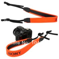 Wholesale New Orange Neoprene Neck Camera Shoulder Strap for Sony A900 A850 A550 A500 A57 A77 A65 A55 A58 A37 Dslr Cameras