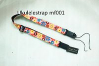 Wholesale 2015 Latest Design Soft Cotton Ukulele Straps Cute Flower Ukulele Shoulder Straps Small guitar Straps Ukulele accessories