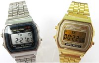 alarm chrono watch - Mix colors Stainless wrist Alarm F91W Chrono Watch F W Odm LED Watch MW041