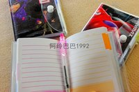 Wholesale 500pcs The Avengers Notebook with a Pen Student Diary x7CM Book Movie Captain America Iron Man Thor Hulk Black Widow Notepad