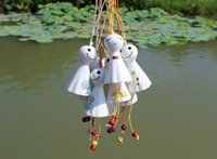 wind chime - 2015 hot Sunny Doll ceramic wind chimes creative accessories Hanging Decoration car