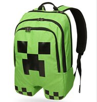 Wholesale 2015 New creative Minecraft backpacks Minecraft Bags Children School Bags MinecraftJJ backpacks schoolbags LJJD1336