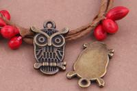 antique jewelry england - colors england owl charm pendant mm antique silver bronze fit bracelet diy metal jewelry making