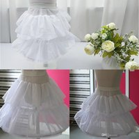 children petticoat - 2015 Children Petticoat White Ball Gowns Flower Girls Hoops Petticoat Two Tiered