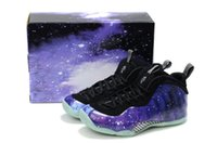 Cheap Mid Cut Galaxy basketball shoes Best Men Spring and Fall Foamposite basketball shoes