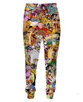 Wholesale 2015 New Fashion Totally s Women Men Pants Unisex Harem Pants Couples Slacks D Print Elastic Band Long Trousers Casual Hip Hop